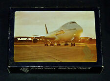 Vintage Singapore Airlines 747 Airplane Aircraft Playing Cards