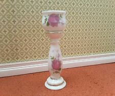 1/12TH SCALE DOLLS HOUSE PINK FLORAL PORCELAIN JARDINIERE
