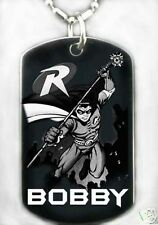 ROBIN - Dog tag Necklace/Key chain + FREE ENGRAVING