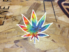 Tie Dye Weed Leaf Cannabis Pot 420 Die Cut Sticker decal
