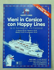 A786-Advertising Pubblicità-2000- HAPPY LINES - TRAGHETTI