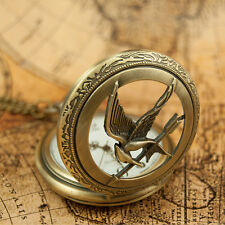 Antique Vintage Unique Mockingjay   Analog Display Quartz Pocket Watch 064