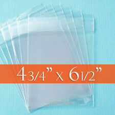 "300 Clear Cello Bags, 4 3/4"" x 6 1/2"" for A6 Cards,Self Adhesive Resealable Flap"