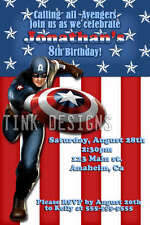 Invitations Captain America Birthday party Avengers