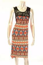 New Women's #2251-674 Ny Collection Multi Colored Aztec Print Sleeveless Dress S