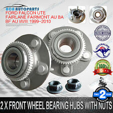 2 x Front Wheel Bearing Hubs + Nuts Ford Falcon Ute AU Fairmont Fairlane BA BF