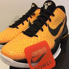 NEW Nike Zoom Kobe VI 6 Light Bulb sz 11 Del Sol Black Yellow White 429659-700