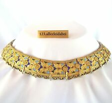 altes Emaille Collier 900 er Silber um 1900 Emaile Collierkette enamel / WW 789
