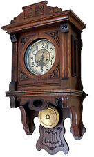 BEAUTIFUL FREESWINGER BALCONY ANTIQUE WALL CLOCK Kienzle circa 1880