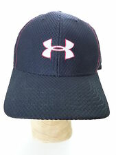 Under Armour Black Mesh Baseball Cap Stretch Fit Size Large L Fitted hat