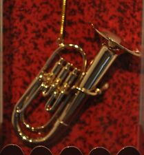 BRASS TUBA CHRISTMAS TREE ORNAMENT TREE DECOR