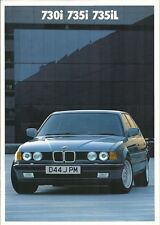 BMW 730i,735i,735iL, FEBRUARY 1986 BROCHURE.