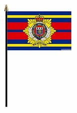 "ROYAL MARINES LOGISTIC CORPS  MILITARY PACK OF 12  FLAGS flag 6""x4"" & pole"