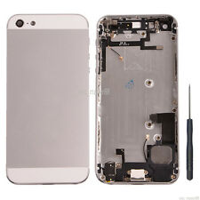 Silver Complete Housing Back Door Cover Metal Frame Assembly For Apple iPhone 5