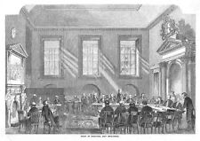 LONDON Court of Directors at East India House - Antique Print 1858