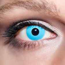 Blaue Kontaktlinsen farbige Vampiraugen Blau Motivlinsen Fun +Lösung & Box;K518K
