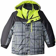 ZeroXposur Boys 3 in 1 Winter Jacket  NWT  Size  7  Gray Plaid   Retail $110.00