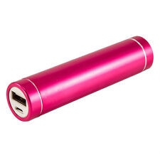 Pink Portable USB 2600mAh Power Bank Charger External Battery for iPhone,Samusng