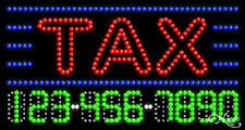 "NEW ""TAX"" 32x17 PHONE NUMBER SOLID/ANIMATED LED SIGN w/CUSTOM OPTIONS 25109"