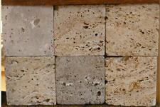 Naturstein Fliesen Travertin antik Getrommelt  10x10cm Boden Wandfliesen muster