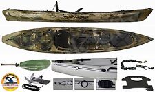 Ocean Kayak Trident 13 Angler - Kayak City Fishing Package - Brown Camo