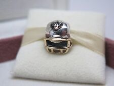 New w/Box Pandora Oakland Raiders Football Helmet Charm NFL USB790570-G123