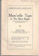 1919 MAM'ZELLE TAPS or THE SILVER BUGLER Arthur A. Penn M. WITMARK & SONS