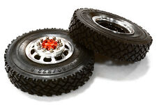 ALL 1/14 TRACTOR  Alloy T5 FRONTWheel WITH TIRES C26571RED KING GLOBE INTEGY