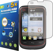5x Clear LCD Screen Protector Cover for Tracfone StraightTalk Net10 LG 306G 305C