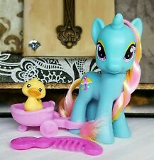 My Little Pony FiM G4 ~Dewdrop Dazzle~ w/Cart Comb & Duck Pet Animal Friend Lot