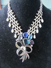 Huge Avon Rhinestone Spray Statement Necklace-A Vintage Repurposed Original!!