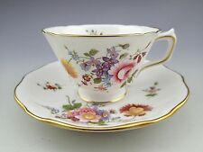 Royal Crown Derby English Bone China Derby Posies Cup and Saucer