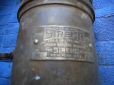 Antique 1908 SIRENO No. 2 Fire Truck Siren, 6 Volt