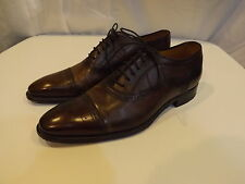 Canali Italian Leather Cap Toe Wing Tip Shoes size 41 NICE!