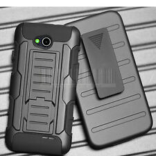 Armor Rugged Hybrid Hard Case Cover Holster Stand For LG OPTIMUS L90 D410 D405