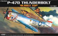 Academy 1/72 P-47D THUNDERBOLT Bubble Top 12491 NIB