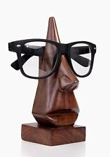Hand Carved  Nose Shaped Rosewood Eyeglass Spectacle Holder Stand  BM-172