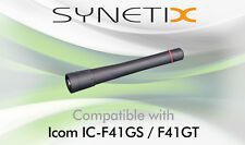 ICOM UHF STUBBY ANTENNA FOR IC-F41GS F41GT TWO WAY RADIO - BY SYNETIX