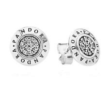 s925ale Signature Stud Earrings - 290559CZ authentic Pandora NEW!!