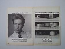advertising Pubblicità 1984 OROLOGIO ZENITH COSMOPOLITAN/ESPADA/SILHOUETTE