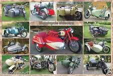 "MOTORCYCLES POSTER ""MOTORCYCLE SIDECARS - 13 MODELS"" POSTER (Horizontal Version)"