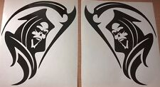 2x 11 inch grim reaper tribal stock racing vinyl car stickers side graphic decal