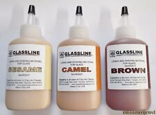 Glassline 'Shades of Browns' Fusing Glass Paints Set - Sesame, Camel and Brown