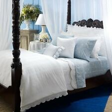 Ralph Lauren Springhill 6P Full Queen Duvet Cover Set White Seersucker Lace