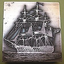 "LORD NELSON'S SHIP ""VICTORY"" PRINTING BLOCK."