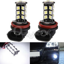2pcs CANBUS Error Free H11 Car LED Fog Lamp 27SMD 5050 Super White Light Bulb