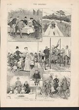 1885 A SCHOOL TREAT IN A SCOTCH COUNTRY HOUSE SKETCHES