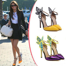 womens Webster Butterfly Wings High Heels Bowtie Toe Ankle Strap Sandals Shoes