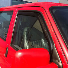Volkswagen Transporter T4 Door Window Wind Deflectors, Smoked, 1990-2003
