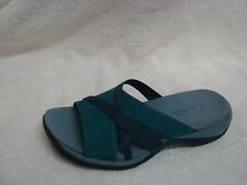 Clarks Leather Multi-strap Slides turquoise 7m new